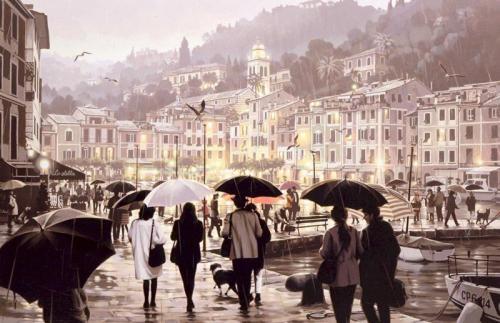 雨のポルトフィーノ Portofino